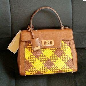 NWT michael kors mini karson leather satchel
